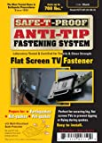 Safe-T-Proof STP-MP-201-BK-05 Anti-Tip Fastening System Flat Screen TV Fastener, Black