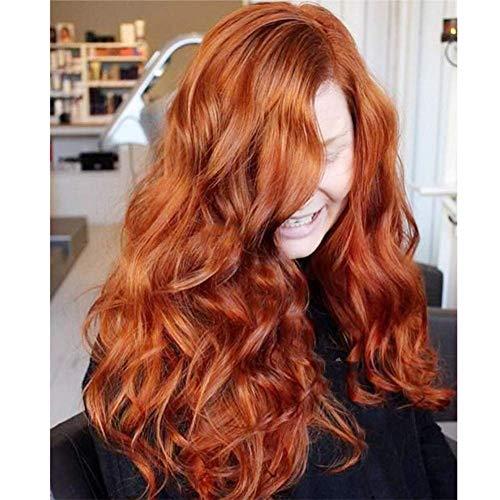 BBHair Lange Welle Perücken Ombre Lace Front zum Frau Orange rot Synthetik Haar Halloween Kostüme Party Haar Perücken + Perücke Deckel 26\