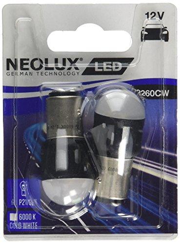 OSRAM NP2260CW-02B Neolux LED Retrofit 6000K-BAY15D (P21/5W) -12V/1.2W-Set de 2 pièces, Blanc
