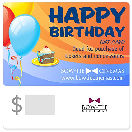 Bow Tie Cinemas Happy Birthday Gift Cards - E-mail Delivery