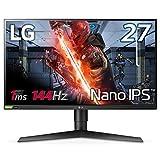 【Amazon.co.jp限定】LG ゲーミングモニター 27GL850-B 27インチ/Nano IPS/1ms/144Hz/WQHD(2560×1440)