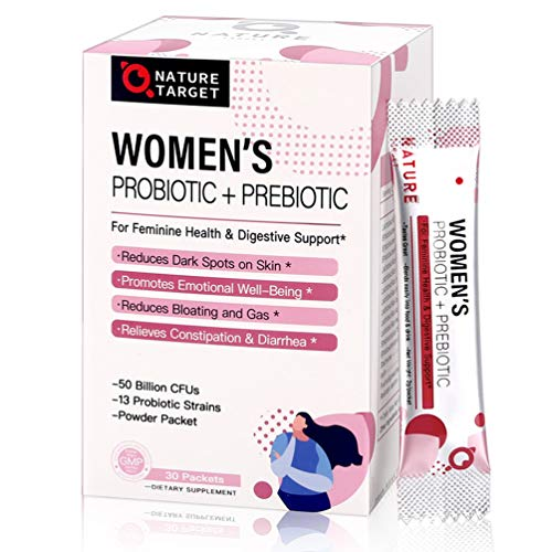 Probiotics for Women Probiotic Powder Supplement - Prebiotics and Probiotics for Vaginal, Weight Loss, Immune and Digestive Health Support, 50 Billion CFUs Shelf Stable, Non-GMO, Gluten Free 30 Bags
