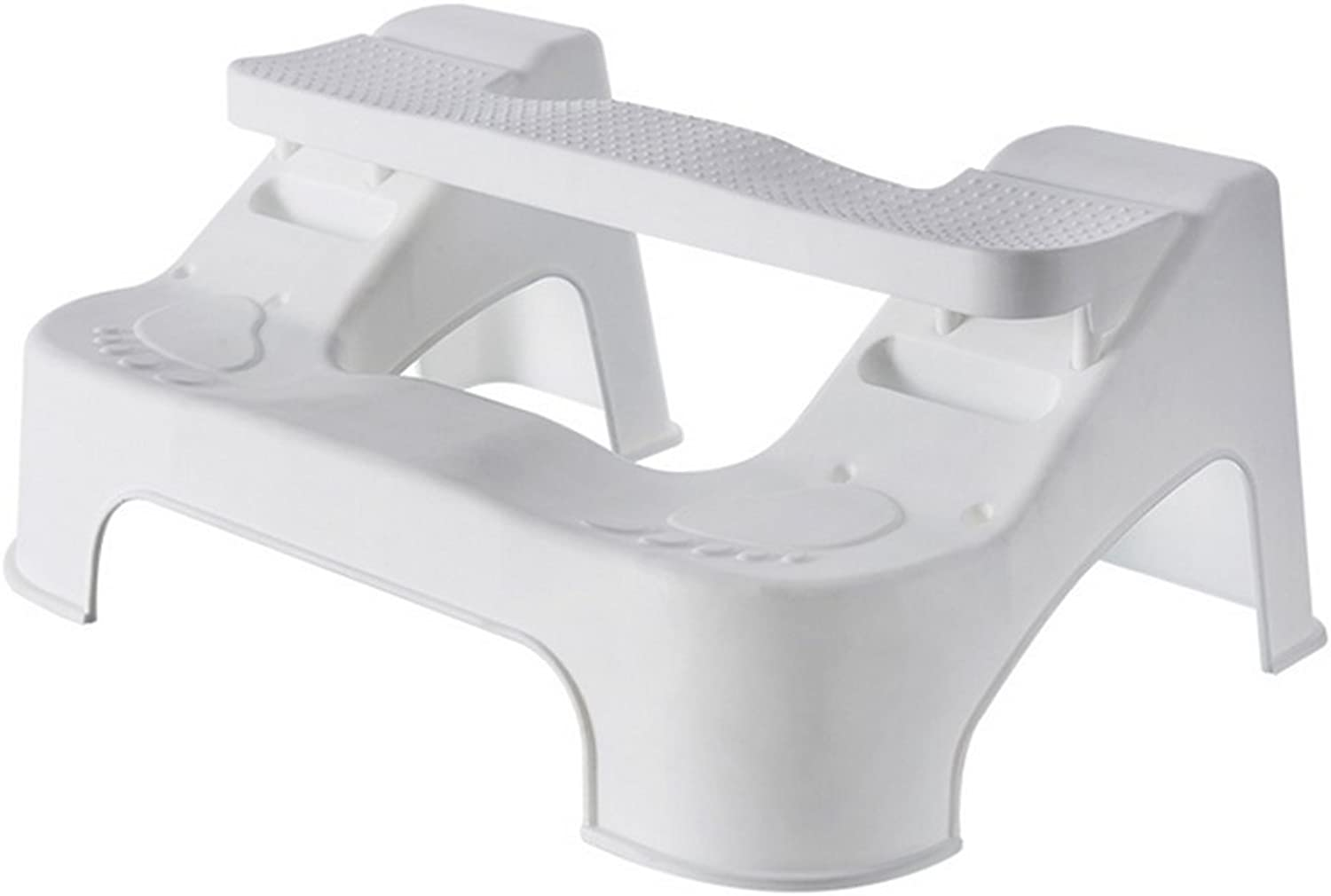 Squatting Toilet Stool   Non-Slip Adjustable Bathroom Toilet Stool   Relieves Constipation, Bloating   Aligns The Colon for Faster   Proper Toilet Posture