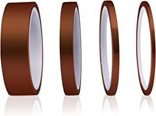 ELEGOO 高温テープ 4パック ポリイミド高温テープ マルチサイジングバリュー 接着剤