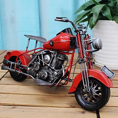 CKH Retro Nostalgische Smeedijzer Motorfiets Klassieke Auto Fiets Model Woonkamer Studie Decoratie Creatieve Fotografie Props