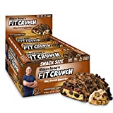Chef Robert Irvine's FITCRUNCH Protein Bars, Snack Size Protein Bars, Gluten Free Baked Bar (9 Count, Chocolate Chip Cookie Dough)