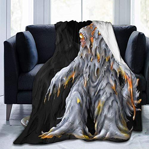 LUCKY Home Godzilla Final Wars Hedorah Neuheit Fleece Bettdecken Superweiche warme Kunstpelz Decke -Ultra-Soft Micro Fleece Bl
