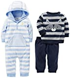 Simple Joys by Carter's Baby Boys' 3-Piece Playwear Set, Blue/Gray, 12 Months