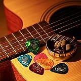 Celluloid Gitarren Plektren von Donner Gitarren Picks 4 verschiedene Stärke 16 Stück - 8