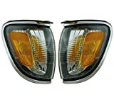 For Toyota Tacoma 2001 02 03 2004 Parking/Side Marker Light Assembly Pair Driver and Passenger Side Chrome