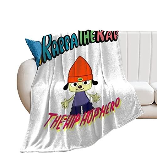 PaRappa The Rapper - Manta de microfibra ultrasuave para sofá, cama, sofá, acogedora, cálida y ligera para todas las estaciones de regalo, manta impresa en 3D para niños y adultos de 150 x 100 cm