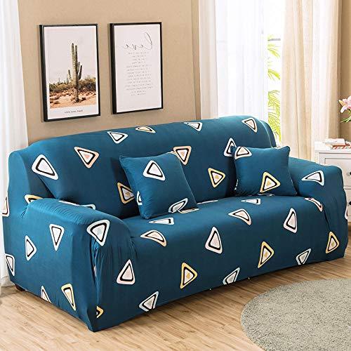Fundas Sofas 3 y 2 Plazas Ajustables Azul Fundas Sofa Elasticas,Funda de Sofa Chaise Longue,Moderna Cubre Sofa,La Funda para Sofa Jacquard de Poliéster (145-185cm)
