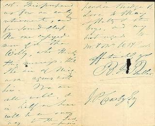 Benjamin Franklin Butler - Autograph Letter Signed 8/25
