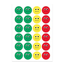 Hygloss Products Visual Behavior Stickers – Incentive Stickers for Students & Kids – Fun Traffic Light Colors – Red…