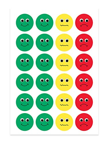 Hygloss Products Visual Behavior Stickers - Incentive Stickers for Students & Kids - Fun Traffic Light Colors - Red… |