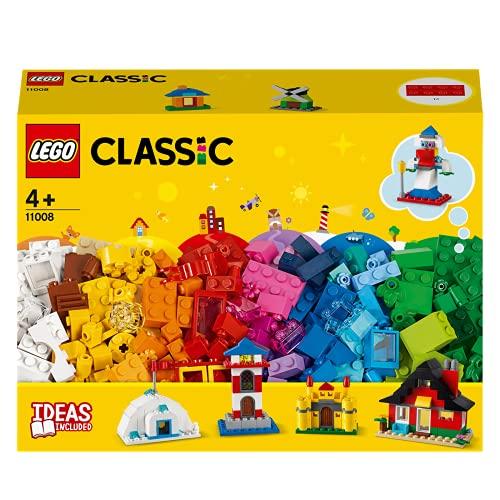LEGO Classic Mattoncini e Case, Set da Costruzione, Giocattoli per Bambini dai 4 Anni in poi con 6 Modelli Facili da Costruire, 11008