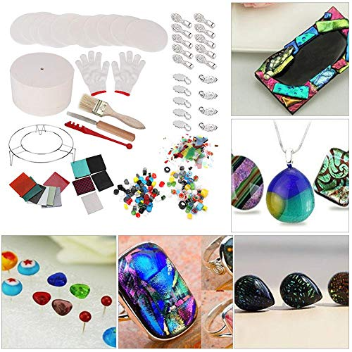 Glass Microwave Kiln Set Arts Crafts Glass Kilns, Kiln Set Arts CraftsFusing Glass Kilns 14PCS/Set Jewelry Tools for Arts Crafts DIY(14-Piece Small kiln)