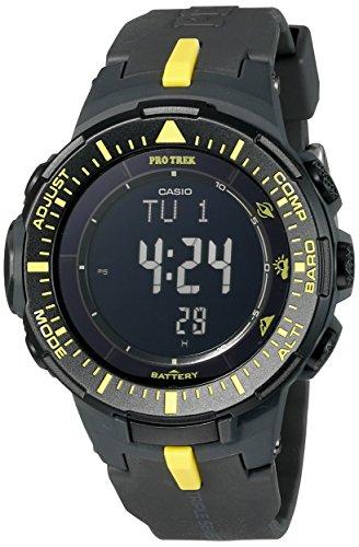 Orologio da uomo nero con display in quarzo della Casio PRG-300 – 1 A9CR Professionale Trekking Triplo Sensore Solare Digitale
