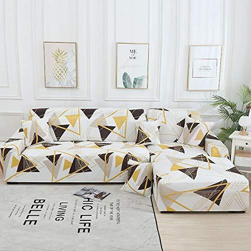 WXQY Funda de sofá de Sala de Estar Chaise Longue, en Forma de L Necesita Comprar 2 Juegos, Funda de sofá elástica Funda de sofá de Esquina en Forma de L A17 2 plazas