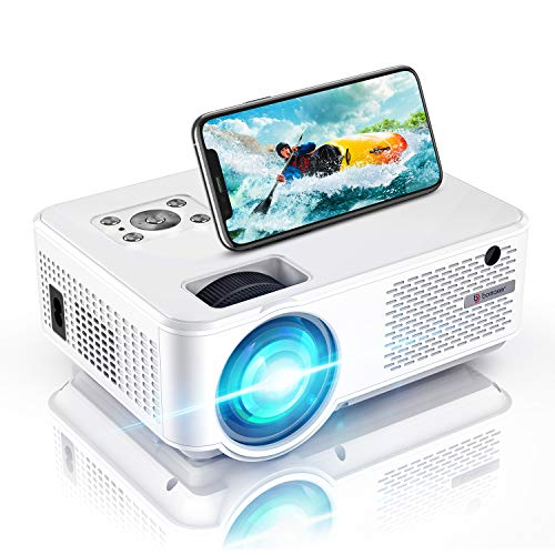 WiFi Proyector, Proyector Full HD 800P Nativo, 6000 Lúmenes, Mini Proyector, Cine en Casa, proyector para presentación, HDMI/USB/VGA/AV/Micro SD, C9
