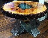 Oliveo Holz, tavolino da caffè in Legno Naturale con Resina epossidica e Legno 30