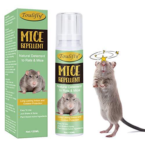 Spray Repellente per Topi,Repellente Topi,Spray Anti Topi,Repellente per Topi,Repellente Spray per Tutti i Tipi di Ratti e Topi,120ml