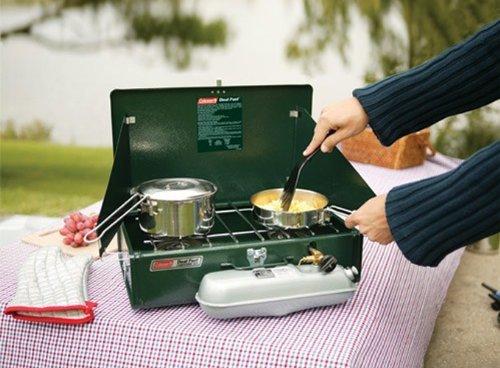 Product Image 7: Coleman 2 Burner Dual Fuel Compact Liquid Fuel Stove