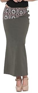 de beau Women's Cotton Lycra Skirt