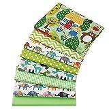 8 piezas de 40 cm x 50 cm elefante impresiones 100% tela de algodón cuadrados paquete DIY costura Scrapbooking Quilting Artcraft para patchwork