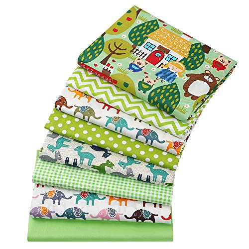 8 piezas 40 cm x 50 cm elefantes estampados 100% algodón tela cuadrados paquete DIY costura scrapbooking Quilting Artcraft para patchwork