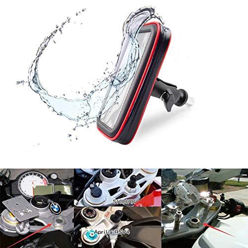 Custodia per Moto con porta Cellulare, Impermeabile, con Scomparti per carte di Credito, per Yamaha BMW Honda Suzuki con foro Rotondo