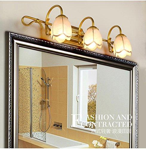 Continental lampes led ambiance rétro minimaliste vanité miroir de salle de bain lumière miroir salle de bain de lumière du cabinet américain mur (efficacité énergétique note A +) ( taille : 3tou )