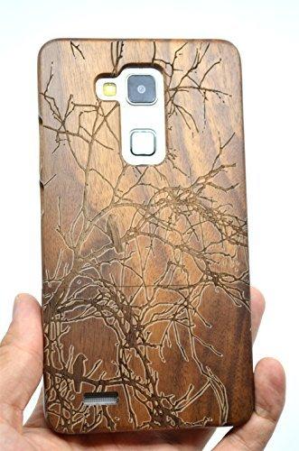 RoseFlower(TM) Huawei Ascend Mate 7 Holzhülle - Walnuss Baum - NatürlicheHandgemachteBambus / Holz Schutzhüllemit Kostenlose Bildschirmschutzfolie für Ihr Smartphone
