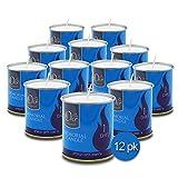 1 Day Yahrzeit Candle - 12 Pack - 24 Hour Kosher Yahrtzeit Memorial and Yom Kippur Candle in Tin Cup Holder