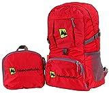 Mochila Plegable Ligera 35L Plegable Backpack - para Senderismo, Ciclismo, Viajes y Actividades al Aire Libre. Bolsa de Viaje Nylon Impermeable. Ajustable y Reflectante. (Rojo)