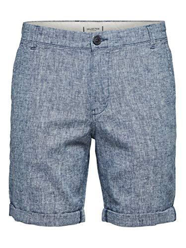 SELECTED HOMME Male Shorts Leinen XXLBlue Depths 2