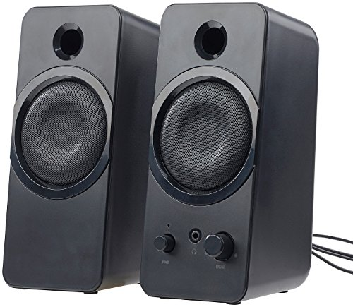 auvisio PC Lautsprecher: Aktive Stereo-Lautsprecher MSX-150 mit USB-Stromversorgung, 20 Watt (PC Lautsprecherboxen)