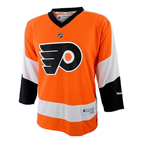 NHL Boys Philadelphia Flyers Team Color Replica Jersey - R56Hwboo (Orange, 4)