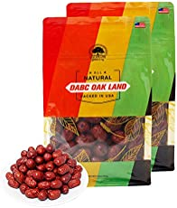 DOL Dried Chinese Red Dates Jujube Hong Zao 紅棗,Grocery & Gourmet Food Snack Foods Dried Fruit & Raisins Dates - in bag (Medium 1lb/bag2)