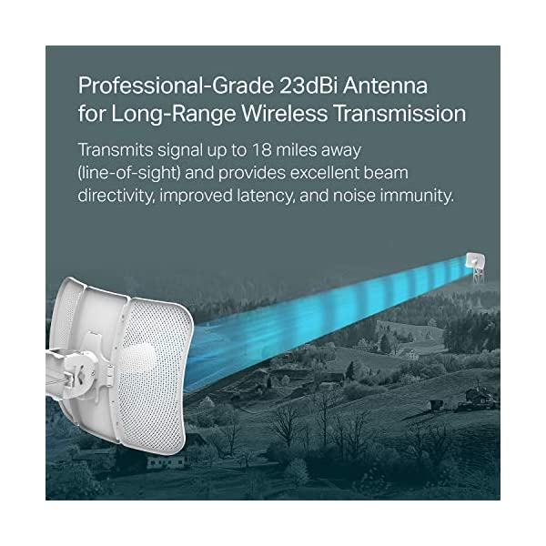 TP-Link 5GHz AC867 Long Range Outdoor CPE for PtP and PtMP Transmission | Point to Point Wireless Bridge | 23dBi…