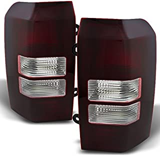For 2008-2017 Jeep Patriot Dark Red Tail Lights Brake Lamps Driver Left + Passenger Right Side Replacement Pair