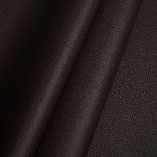 EDGE Kunstleder Meterware 1lfm 1,4m breit Polsterstoff Bezugsstoff Lederoptik Braun Dunkel