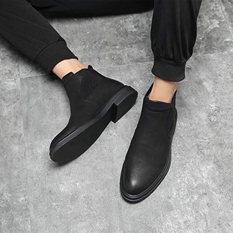 LOVDRAM Stiefel Mnner Martin Stiefel Herren Stiefelies In Den Schwarzen High-Top-Schuhen Mnner Spitzen Chelsea-Stiefel