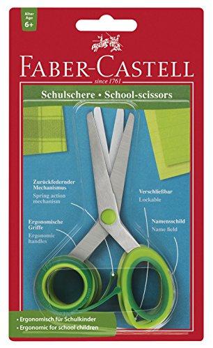 Faber-Castell 181504 - Tijeras escolares ergonómicas