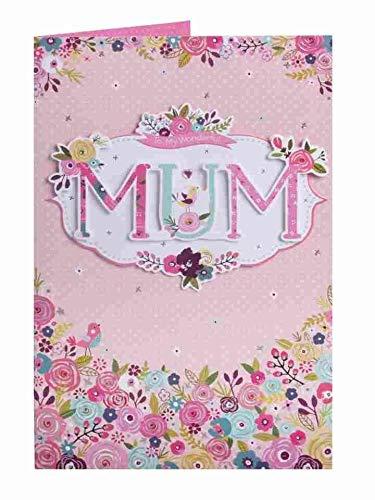 Mama - Heerlijk Kleurrijke Bloemen Moederdag Luxe Handgemaakte Nieuwe Kaart Grote