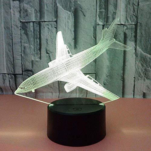 Creatief landend vliegtuig, USB-interface, kleurrijke van de de schakelaarnacht van het aanrakingsafstandsbediening van de het bedlamp kinderengift