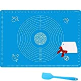Nifogo Baking Mat Silicone Pastry Mat with Measurements,70 x 50 cm, Nonstick, BPA Free, FDA And LFGB Approved