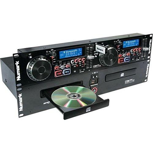Numark CDN77USB - Doppio Lettore MP3/CD Professionale USB per DJ con Funzioni Esclusive, Compatibilità CD / MP3CD e Riconoscimento D3 Tag & Cartelle