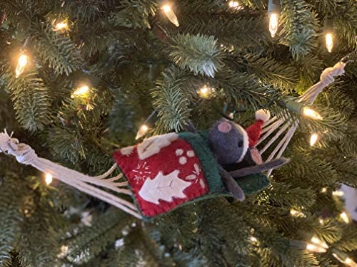 The Mouse in the Hammock Christmas Ornament by Bethany Brevard Original Holiday Decoration for product image