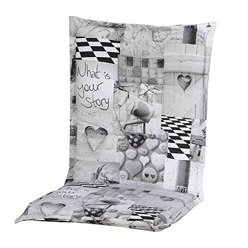 Schwienhorst 6267319 Auflage Sesselpolster niedrig Story für Textilmöbel 75% Baumwolle, 25% Polyester, grau